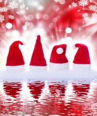 Rote Weihnachtsmütze, Spiegelung