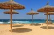 canvas print picture - sonnenschirm am strand