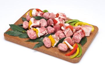 Spiedini di carne di suino