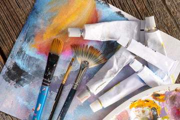 Aristic paint and brushes