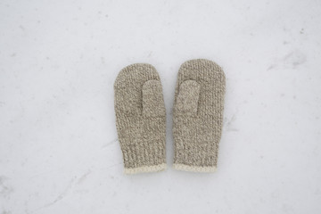 couple of wool  mittens
