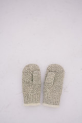 couple of wool mittens .