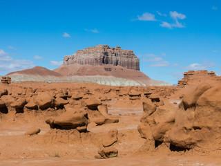 Sandstone hoodoos in Goblin Valley State park, Utah, USA