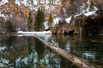 Green water of Hanging Lake, Colorado, USA