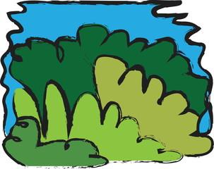 cartoon leaf green grunge background