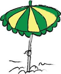 cartoon  beach umbrella
