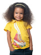 Cute african american small girl smiling