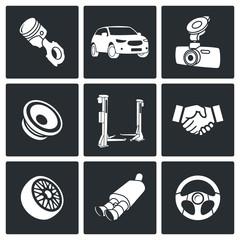 Auto service Icon set