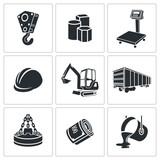 Metallurgy Icons set poster
