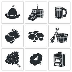 Vector Bath Accessories Icons Set
