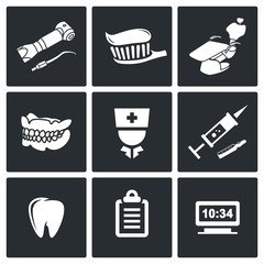 Stomatology Vector Icons Set