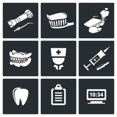 Stomatology Vector Icons Set