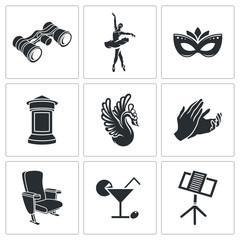 Ballet Vector Icons Set