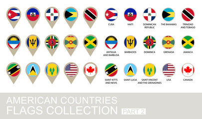 American Countries Flags Collection, Part 2 , 2  version