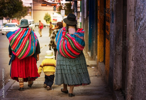 Bolivian people in city - 74490139
