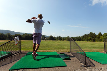 Golfer at the Driving Range