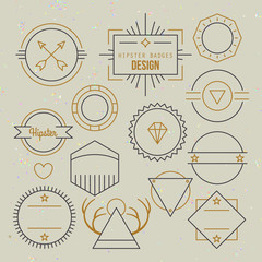 Hipster outline badges and emblems template for logo design