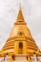 Golden pagoda at Wat Bowon Niwet in Bangkok ,Thailand