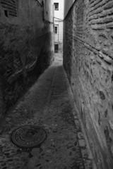 Narrow alley in Toledo
