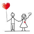 Brautpaar mit Herzluftballon