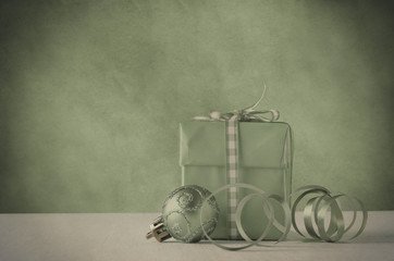 Christmas Gift and Decoration in Faded Vintage Style