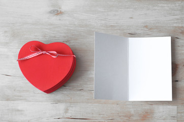 Heart gift Box and Blank Card - Whitened