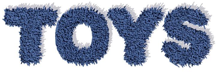 TOYS Giochi parola blu tappeto 3d, sfondo bianco