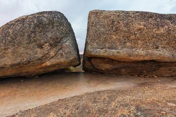 Rock broken