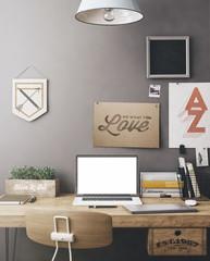 Stylish workplace mockup