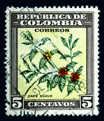 postage stamp colombia