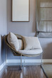 modern chair in bedroom