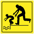 Leinwanddruck Bild - Protect your Child from drowning