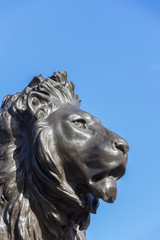 Lion statue at the Queeen Victoria memorial at Buckingham Palace