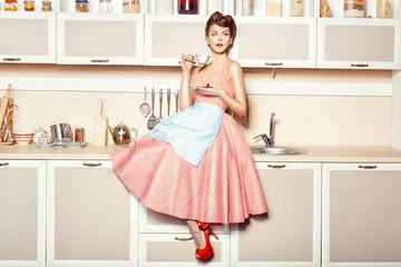 Girl in apron