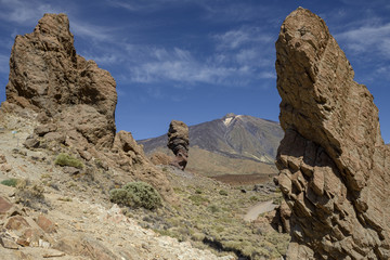 Rocks de Garcia in national park Las Canadas del Teide.