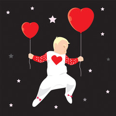 Baby with hearts