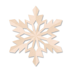 colored paper snowflake