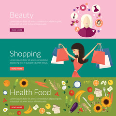 Concept for beauty, shopping and health food