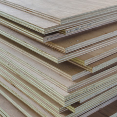 Layer of Industrial Plywood as background