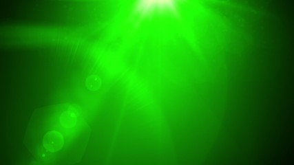 News style lens flares on deep green background seamless loop