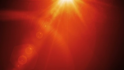 News style lens flares on deep red background seamless loop