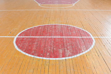 old floor in the gym