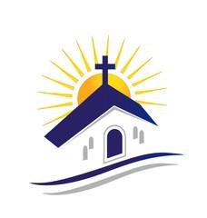 Church with sun logo