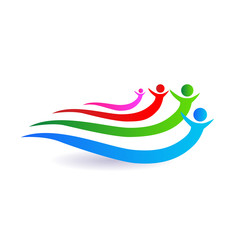 Friends unity concept logo vector design