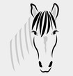 Horse head portrait logo vector