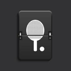 vector modern scoreboard black icon.