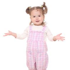 Portrait of a beautiful little girl.