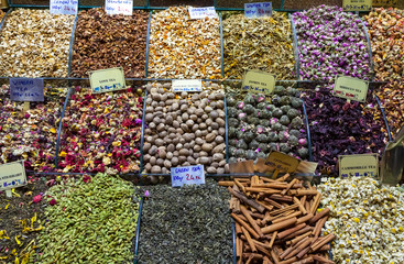 Teas, Spices on Egyptian and the Grand Bazaar in Istanbul