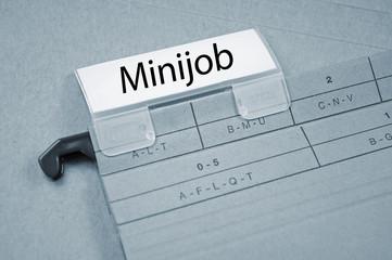 Ordner mit Minijob