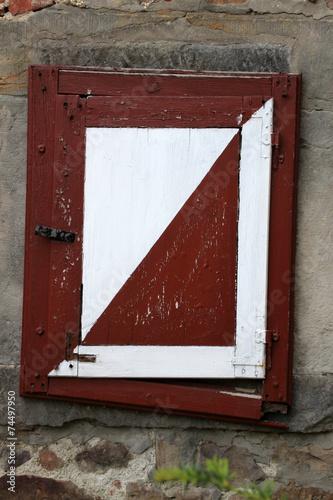 canvas print picture Fensterladen Burg Schwalenberg